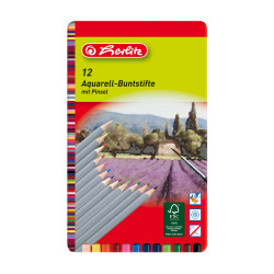 Aquarell-Buntstifte 12er + Pin...