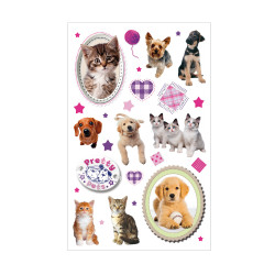 Sticker Pretty Pets Hund & Kat...