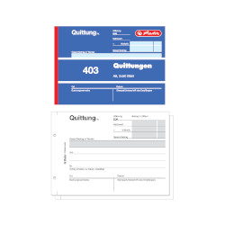Quittungsblock A6 403, Cover u...