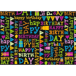 Geschenkpapier Your day black