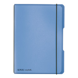 Noteb.flex PP A5/40 squ.blue m...