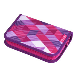Pencil case Pink Cubes