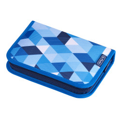 Pencil case Blue Cubes