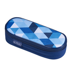 Pencil pouch square case Blue...