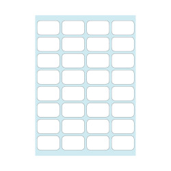 Office label white 12x19mm sel...