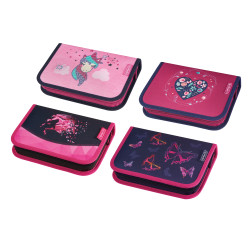 Pencil case, 4 motifs Girls Mi...