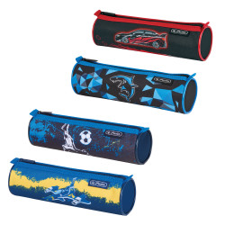 Pencil pouch round, 4 motifs B...