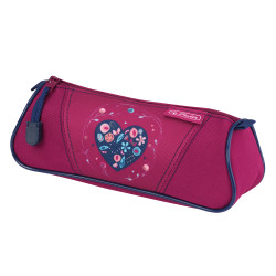 Pencil pouch triangular Heart