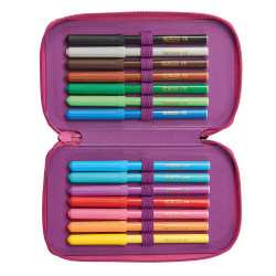 Pencil case triple 31 pieces W...