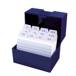 Index card box A8 blue, open w...