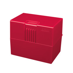 Index card box A8 red