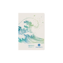 Notebook A6 GREENline Wave