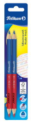 Red 6 Blue pencil thick, ergon...
