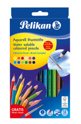 12 col.Pencils watersol,hexago...