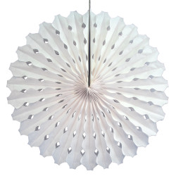 Decorative fan, white