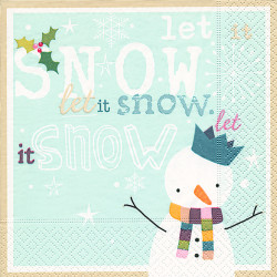 Serviette 33x33 cm Let it snow