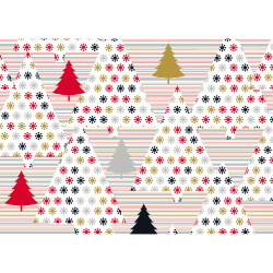 Gift wrap 1,5 m x-mas Trees re...
