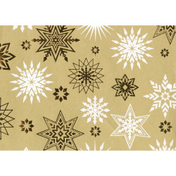 Gift wrap 1m X-mas Golden star...