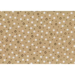 Gift wrap 1m X-mas Golden mini...