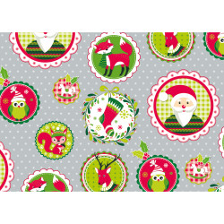 Gift wrap 2m X-mas Advent silv...