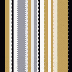 Napkin 33/3/20 Stripes bl/gold...