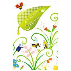 Greeting card Easter Bees