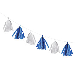 Tassel garland blue/white