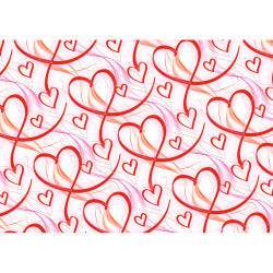 Gift wrap 2m Swinging Hearts