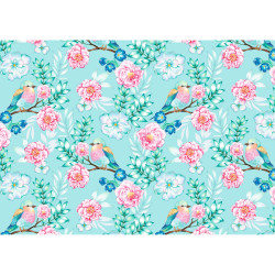 Gift wrap 2m, Flowers and Bird...