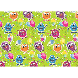 Gift wrap 2m, Monster Party gr...