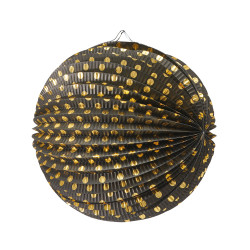 Lantern Dots black/gold 25cm