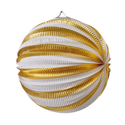 Lantern Stripes white/gold 25c...