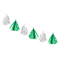 Tassel garland green/white