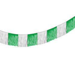 Garland green/white 10 m