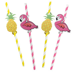 Paper drinking straws Tropical