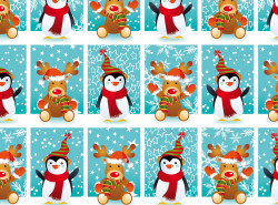 Gift wrap 2m Xmas winter frien...
