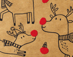 Gift wrap 1m Xmas Red Nose