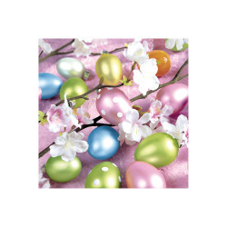 Napkin 33 x 33cm Metallic Eggs