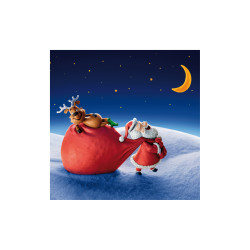Greeting card 3D Xmas night