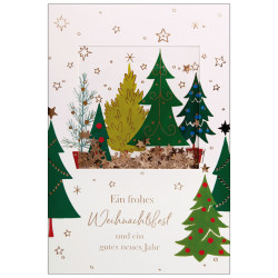 Greeting card christmas trees