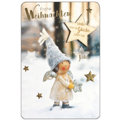 Greeting card christmas angel