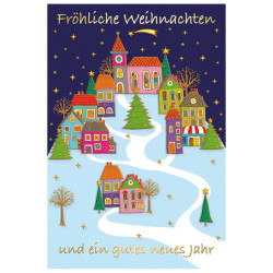 Greeting card christmas night