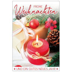 Greeting card christmas candle...