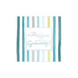 Greeting card square, Stripes...