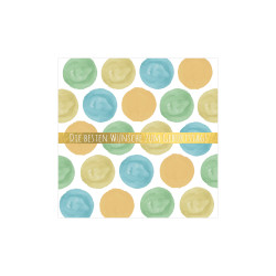 Greeting card square, Dots blu...