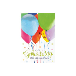 Greeting card Birtday A5, ball...