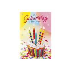 Greeting card birthday A4 muff...