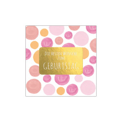 Greeting card square, Dots