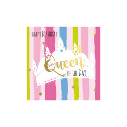 Greeting card  square, Queen