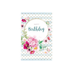 Greeting card Bloom B-day dots